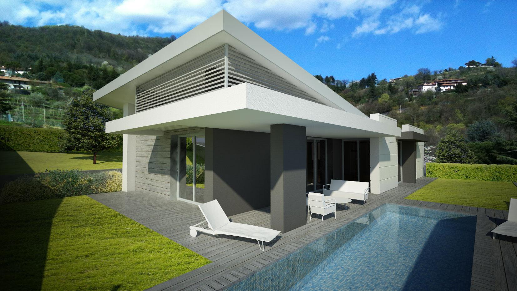 Villa cenate sopra dimore architetture for Piani di casa con piscina